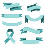 Stitched ribbons set Royalty Free Stock Images