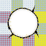 Round patch frame Royalty Free Stock Photography