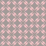 Stitched seamless pattern with hearts. Stock Images