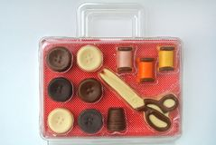 Stitched set of chocolate. The stitched set of chocolate Stock Images
