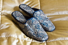 Embroided slippers Stock Images