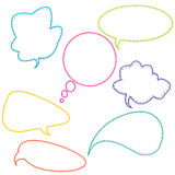 Stitched speech bubbles Royalty Free Stock Photo