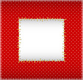 Stitched sqare frame Royalty Free Stock Images