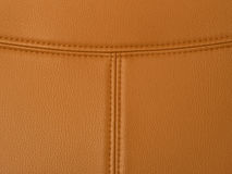 Stitched tan leather Stock Image
