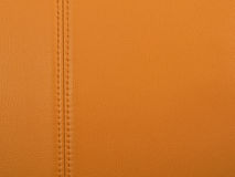 Stitched tan leather Stock Images