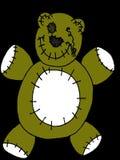 Stitched Teddy Bear. Cartoon illustration of a teddy bear plush toy with stitching royalty free illustration