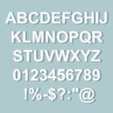 Stitched Text style alphabet collection set. Royalty Free Stock Photo