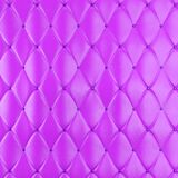Stitched upholstery leather violet background with buttons. 3d rendering Royalty Free Stock Photos