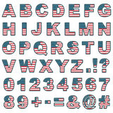 Stitched usa alphabet Royalty Free Stock Image