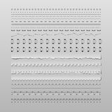 Stitches and dividers royalty free stock photo