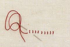 Stitches and needle Royalty Free Stock Photo