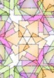 Stitches Threads Quilt Pattern. An abstract texture background pattern of quilt and patchwork sections with stitches in a variety of colors, primarily pink royalty free illustration