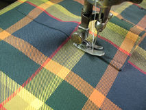 Stitching. Shirt stitching in tailor shop Royalty Free Stock Image