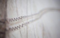 A stitching thread sail close up