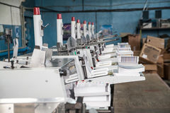 Stitching and trimming line Stock Photo