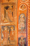 Stitinik - Medieval frescos in gothic evangelical church in Stitnik from 14 - 15 cent. Stock Photos