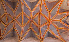 Stitnik - Ceiling of presbytery in gothic evangelical church in Stitnik from 14 - 15 cent. Royalty Free Stock Images