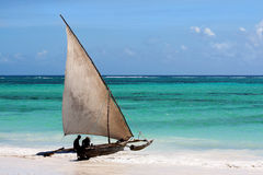Stivale africano del Dhow fotografia stock libera da diritti