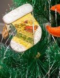 Stivale del giocattolo di Natale Fotografie Stock