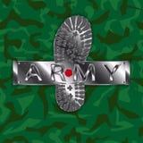Stivale dell'esercito del cammuffamento Illustrazione Vettoriale