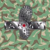 Stivale dell'esercito del cammuffamento Immagini Stock