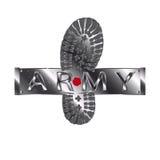 Stivale dell'esercito metallico Illustrazione Vettoriale