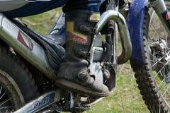 Stivale di motocross fotografia stock libera da diritti