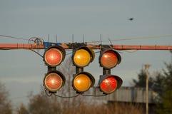 Inizi gli indicatori luminosi Fotografie Stock Libere da Diritti