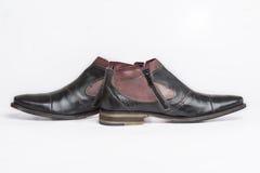 Stivali alla moda della caviglia Fotografia Stock Libera da Diritti