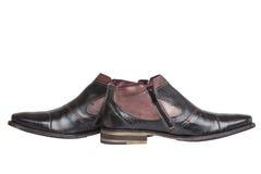 Stivali alla moda della caviglia Fotografie Stock