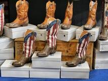 Stivali americani di stile occidentale fotografia stock libera da diritti