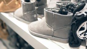 Stivali caldi di inverno del ` s delle donne Fotografia Stock Libera da Diritti