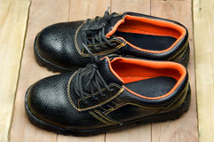Stivali d'acciaio neri di Toe Safety immagini stock