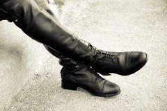Stivali da equitazione inglesi alti Fotografia Stock
