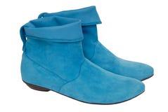 Stivali del camoscio del turchese Immagini Stock Libere da Diritti