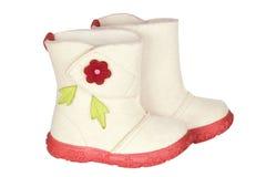 Stivali del feltro dei bambini fotografie stock libere da diritti