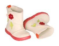 Stivali del feltro dei bambini immagine stock libera da diritti