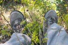 Stivali del ` s dell'alpinista Fotografie Stock Libere da Diritti