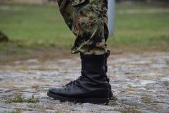 Stivali dell'esercito del primo piano Immagine Stock Libera da Diritti