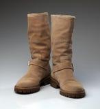 Stivali della pelle di pecora Immagini Stock