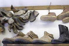 Stivali della scarpa Fotografie Stock