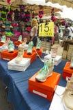 Stivali delle femmine di Ciotat della La del mercato di strada immagine stock