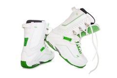 Stivali dello snowboard fotografia stock