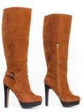 Stivali di Brown Fotografie Stock Libere da Diritti