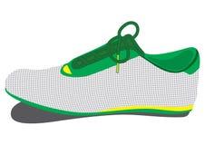 Stivali di calcio isolati su fondo bianco Fotografia Stock Libera da Diritti