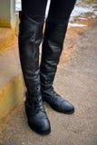 Stivali di campo inglesi di guida Immagini Stock