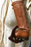 Stivali di cuoio del gaucho immagine stock libera da diritti