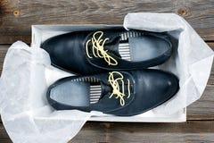 Stivali di cuoio italiani Fotografia Stock