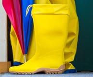 Stivali di gomma Immagini Stock