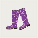 Stivali di gomma Immagini Stock Libere da Diritti